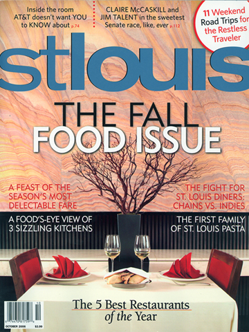 St. Louis Magazine<br>October 2006