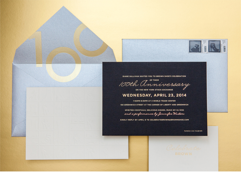 Brown Shoe Invitation