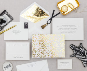 Golden Divinity Wedding Invitation