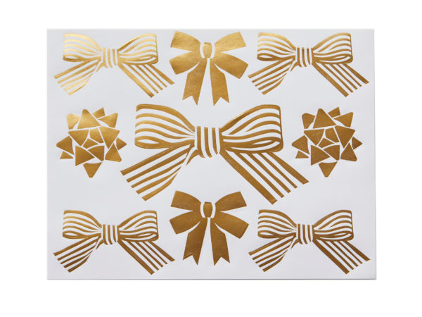 Gold Foil Bow Stickers