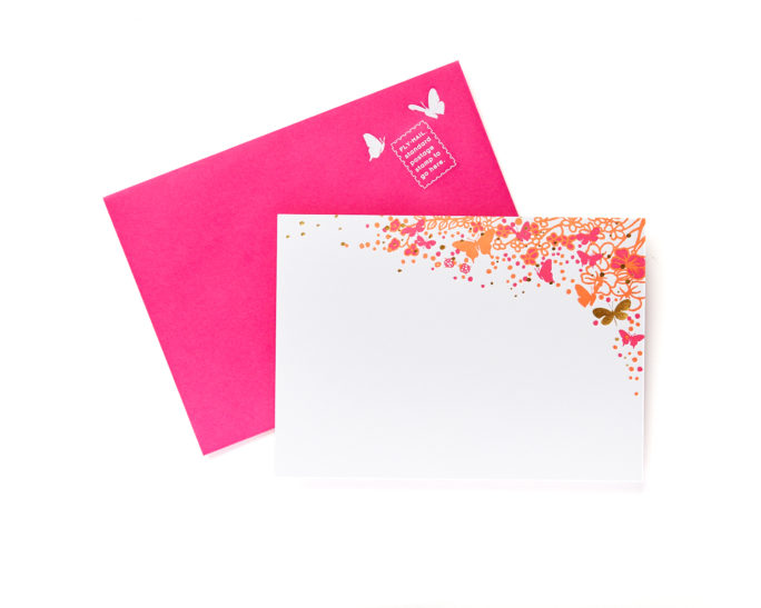 butterfly notecard set