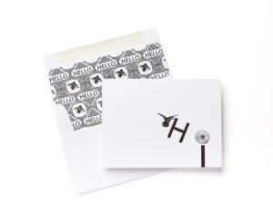 Hi Foldover Boxed Stationery