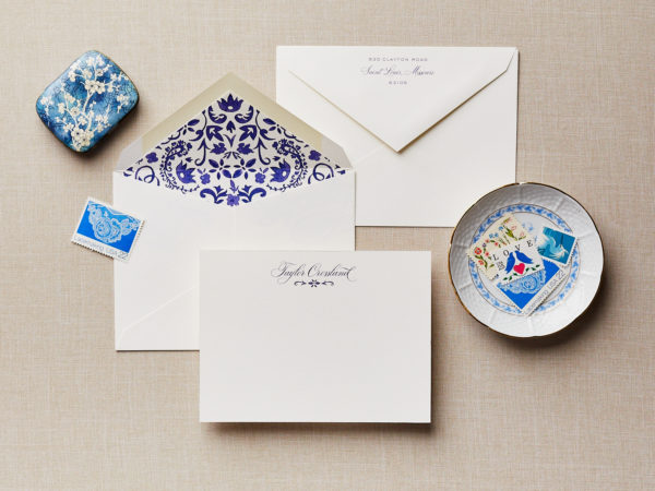 Hand-Painted Porcelain Personalized Stationery