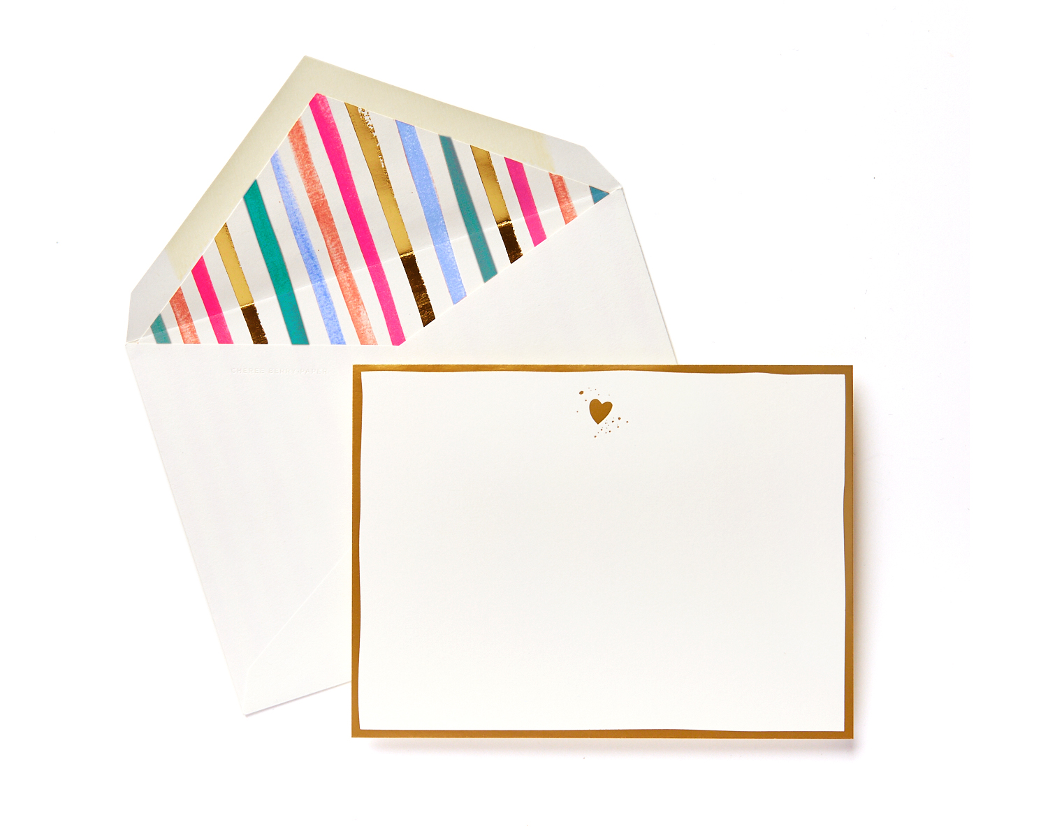 heart stationery with cool liner