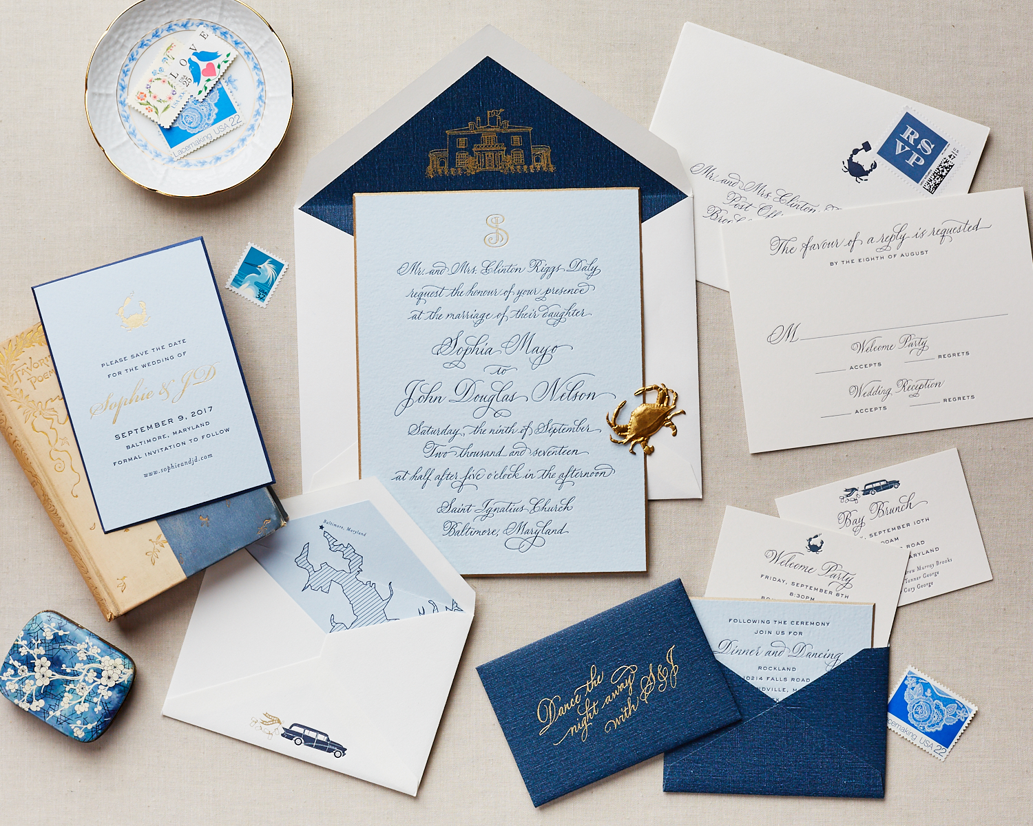 maryland crab wedding invite