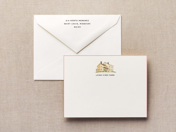 No Place Like Home Personalized Stationery