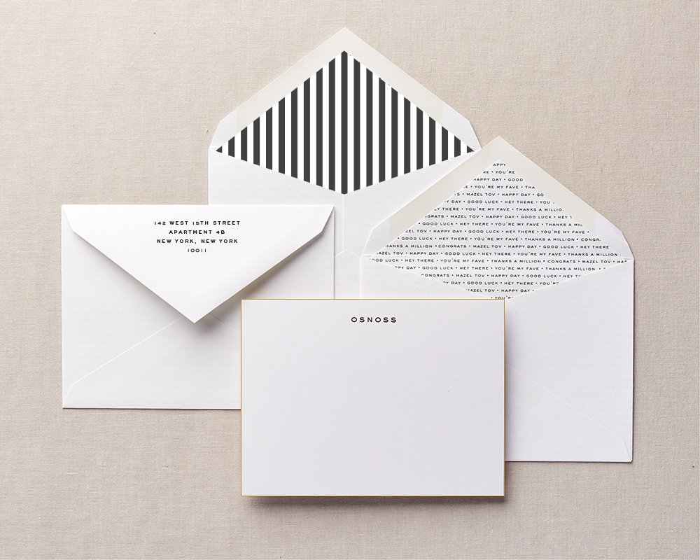 Family personalized stationery