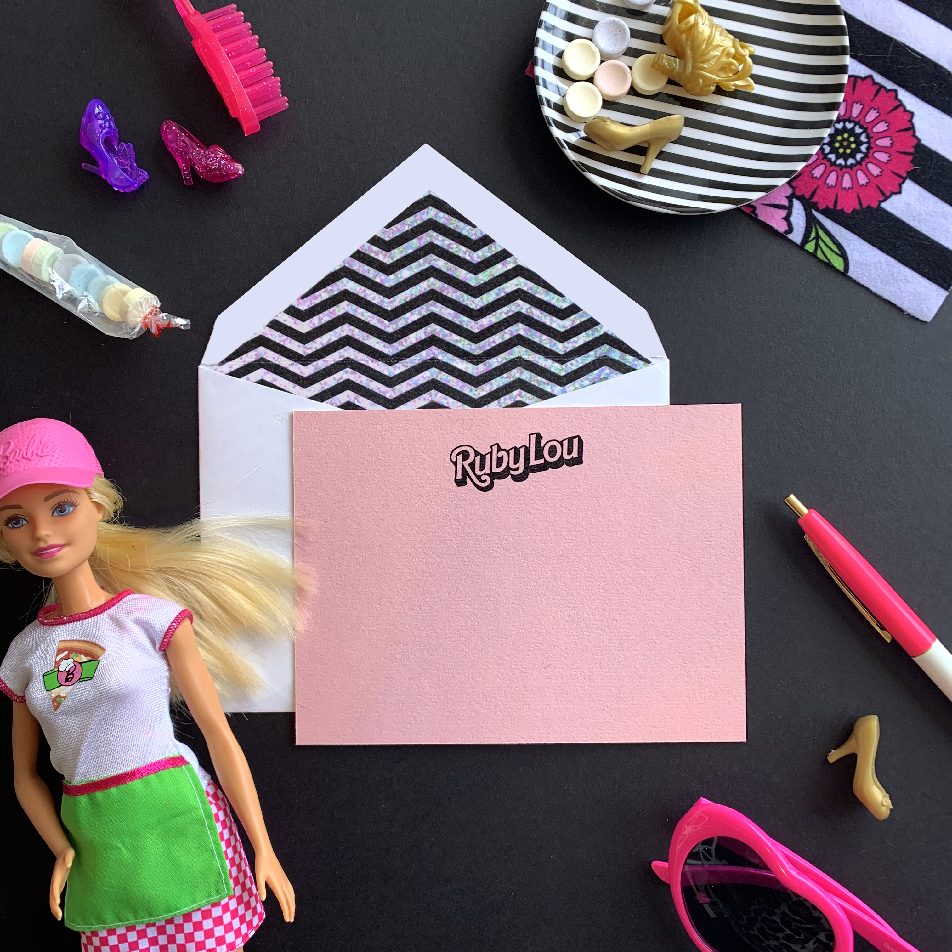 barbie stationery for girls