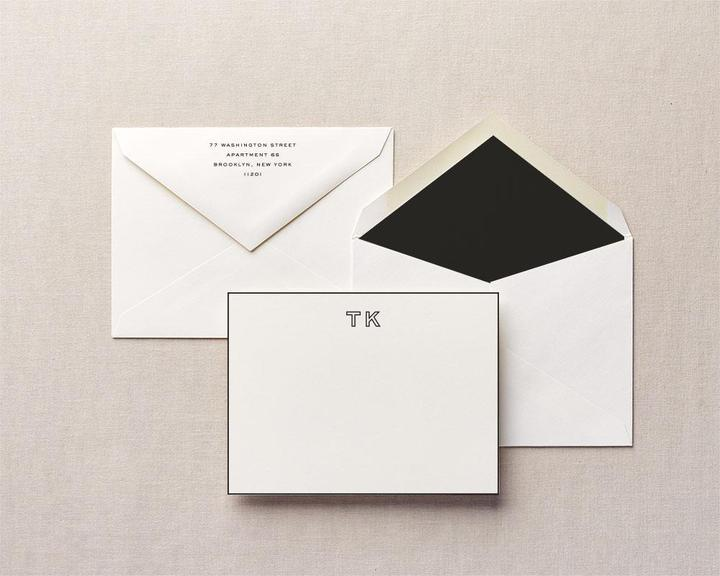 black thick notecards