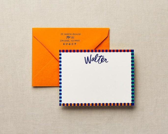 bordered edge with colored envelope