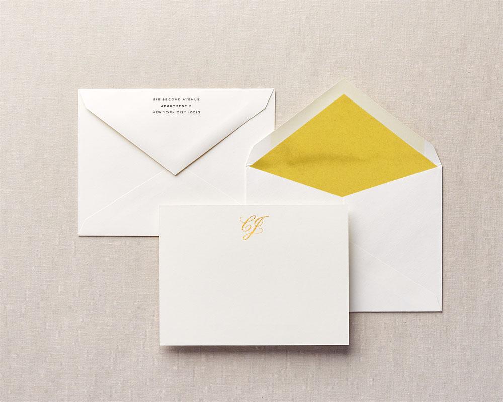 Gold Liner & Monogram