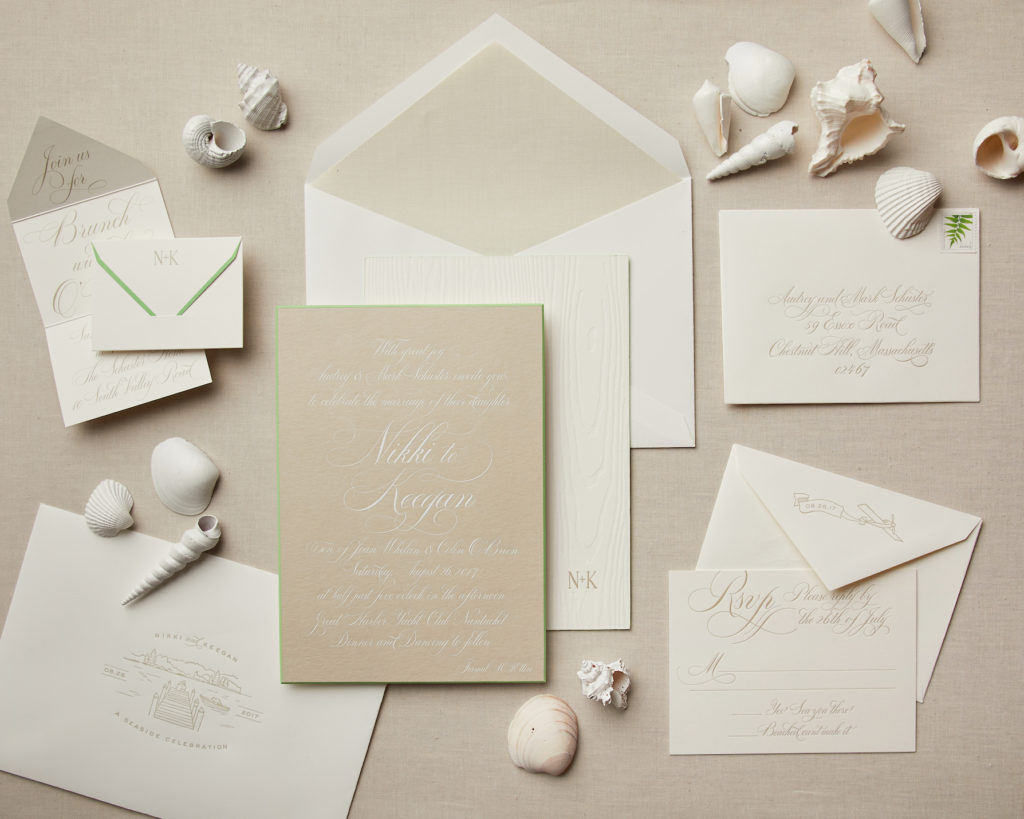 destination wedding seashore invitation