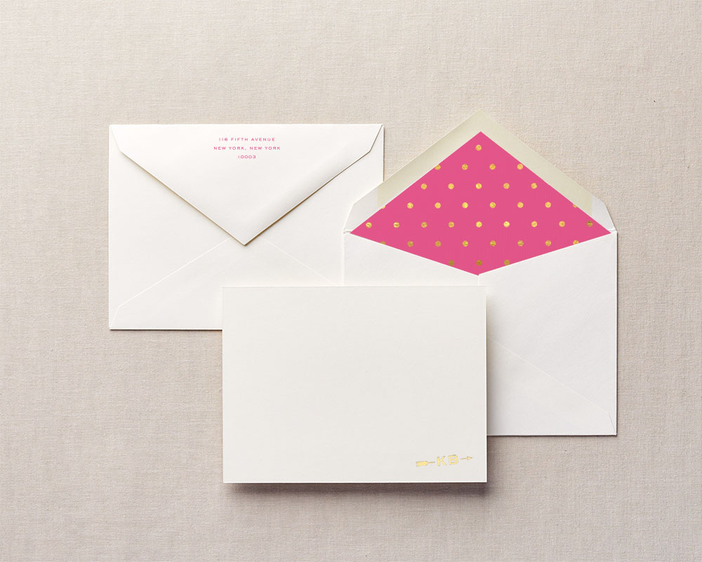 polka dot personalized stationery