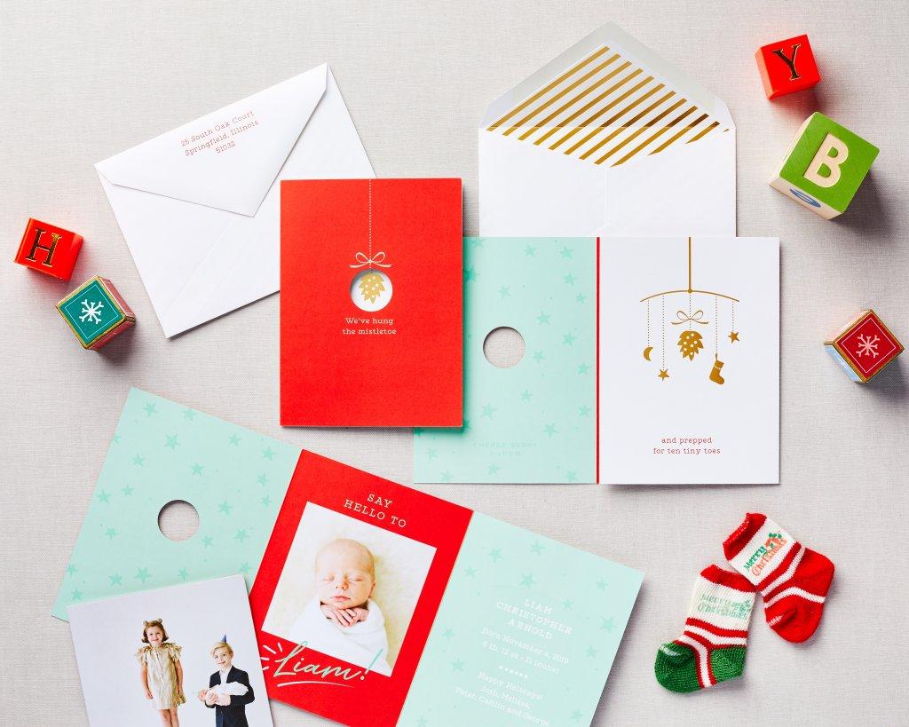 mistletoe baby holiday announcement