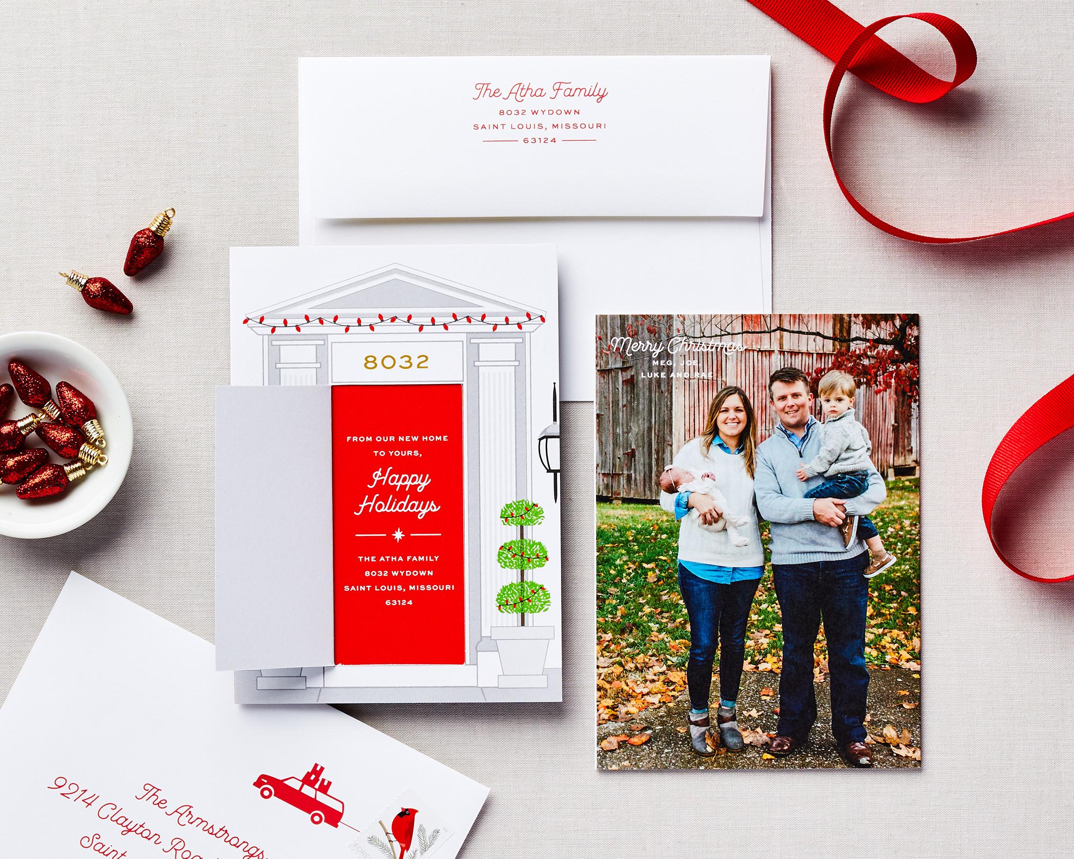 door holiday card