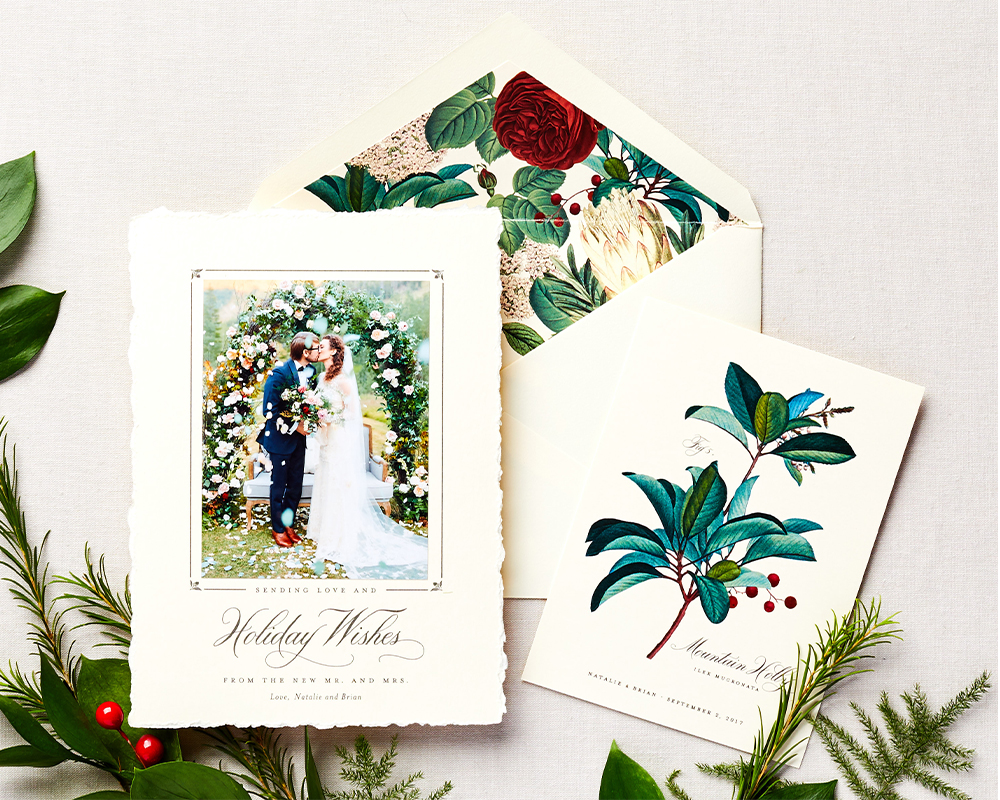 Custom Wedding Holiday Cards