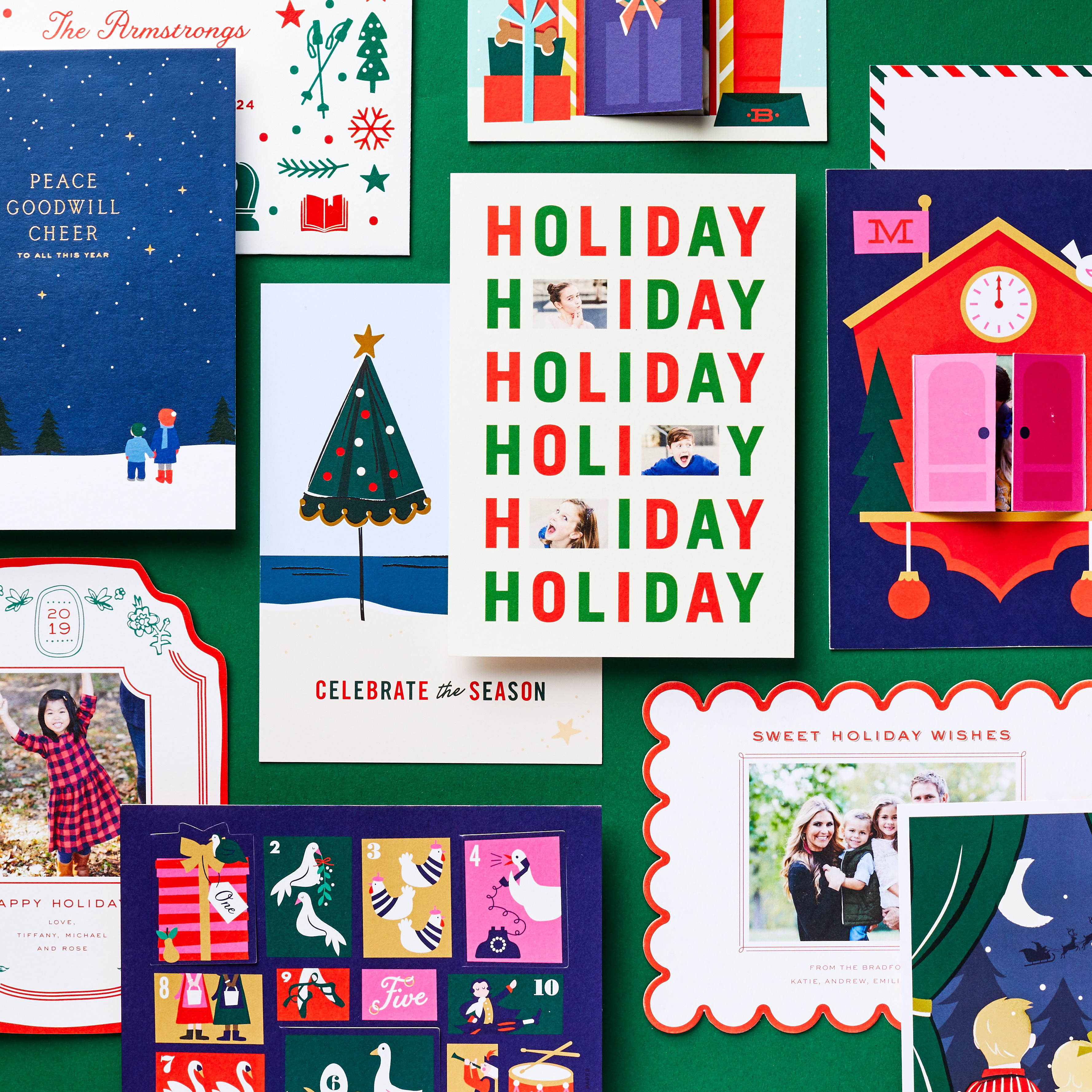 personalized holiday card designs