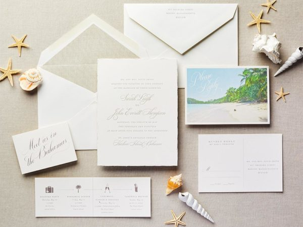 Postcard Picturesque Wedding Invitation