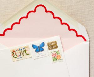 scalloped envelope liner