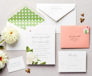 My Honey Floral Wedding Invitation