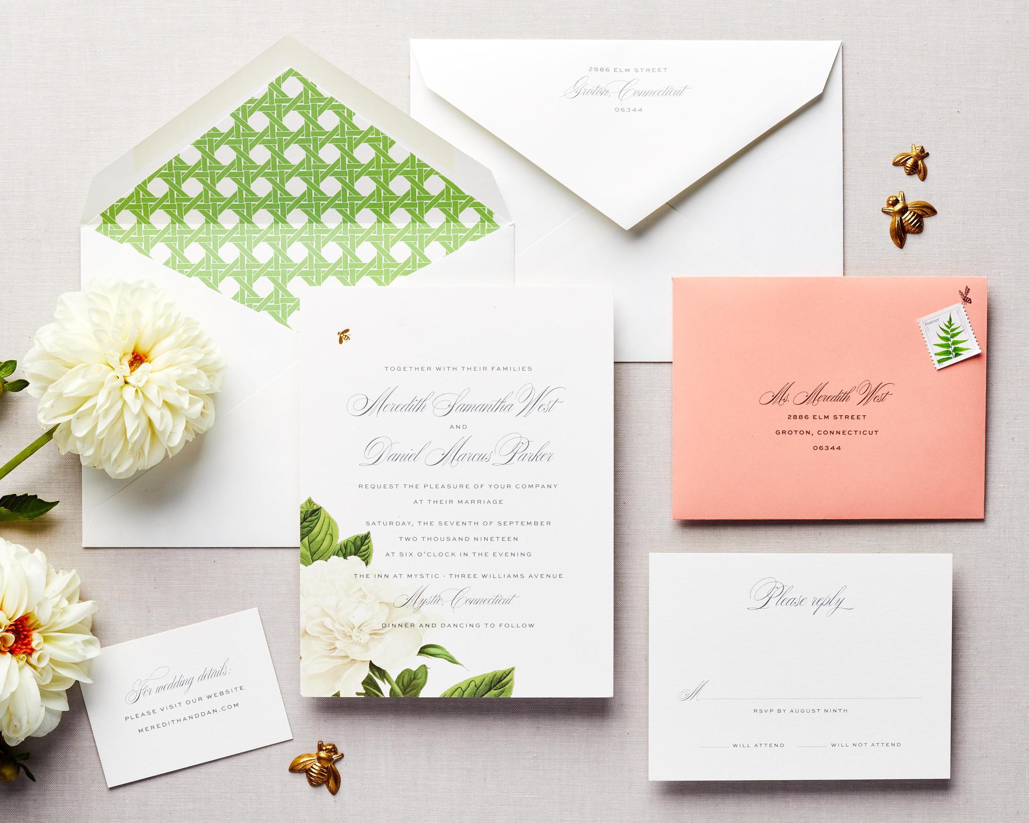 floral spring wedding invitation