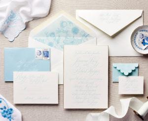 Blue Hues Wedding Invitation Inspired by  Gossip Girl
