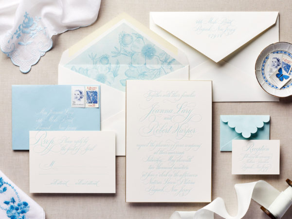 Blue Hues Wedding Invitation