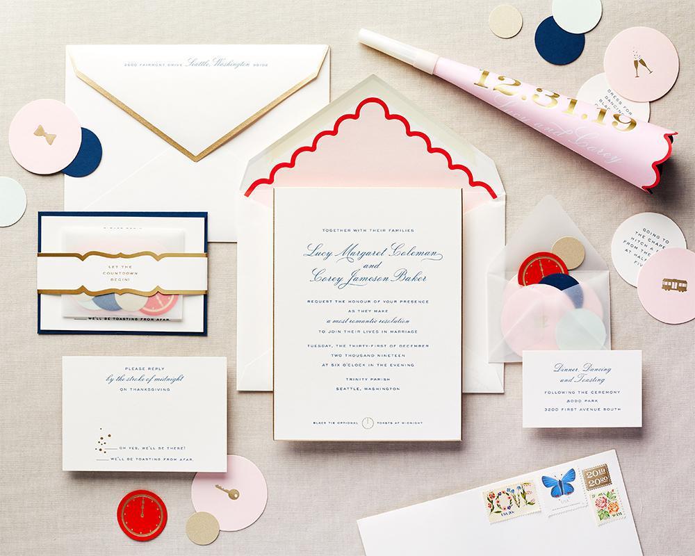playful wedding invitation