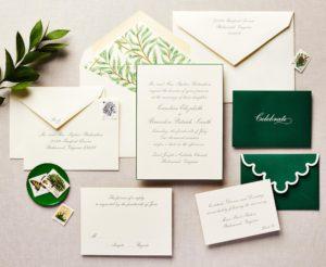 Fancy Fronds Wedding Invitation
