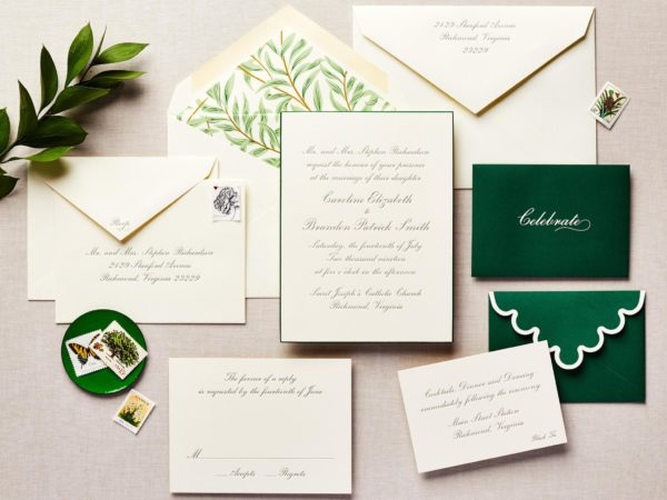 Fancy Fronds Wedding Invitation