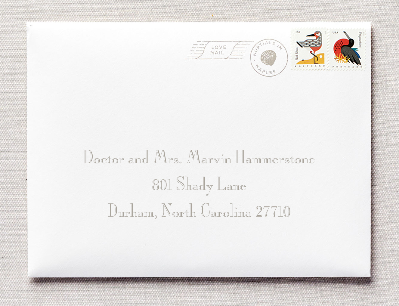 naples wedding invitation